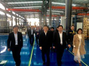 Partito Comunista Cinese ha visitato il nuovo stabilimento di LU-VE Tianmen